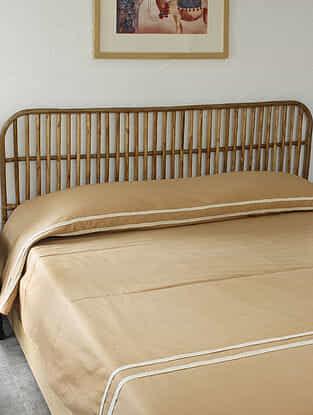 Beige Mrittika Double Bedcover (L-108in ,W-90in)