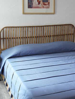 Blue Samudra Double Bedcover (L-108in ,W-90in)