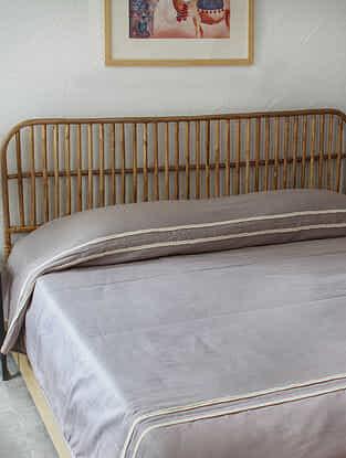Grey Mrittika Double Bedcover (L-108in ,W-90in)