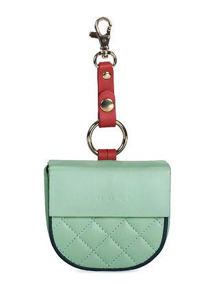 Mint Green Handcrafted Genuine Leather Mobile Batuwa