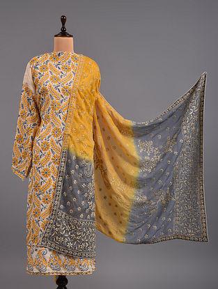 Yellow Chikankari Cotton Suit
