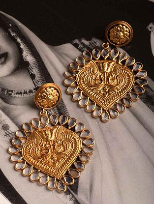 Gold Tone Cystal Kundan Earrings
