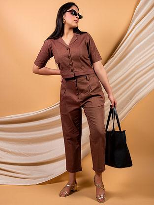 Brown Cotton Twill Shirt