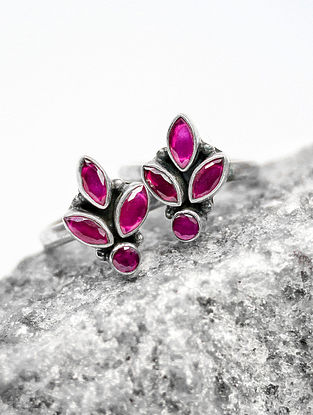 Purple Tribal Silver Toe Ring (Set of two)