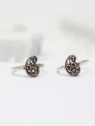 Tribal Silver Toe Ring (Set of two)