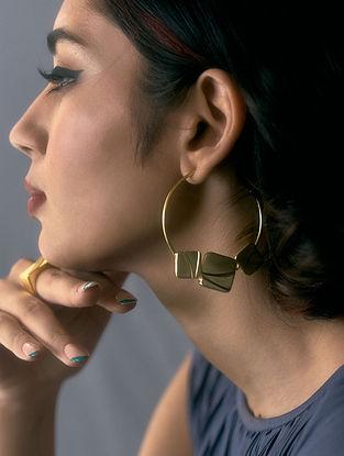 Gold Plated Handcrafted Hoop Earrings