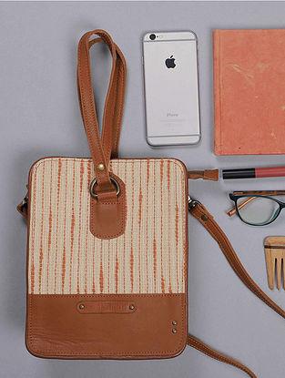 Orange Handcrafted Vintage Banjara Leather Sling Bag