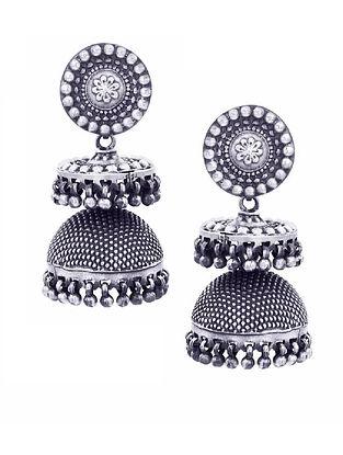 Sterling Silver Jhumki Earrings