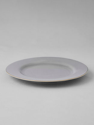 Grey Porcelain Handcrafted Dessert Plate (Dia-8in)