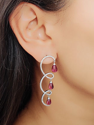 Pink Gold Earrings with Diamond and Tourmaline
