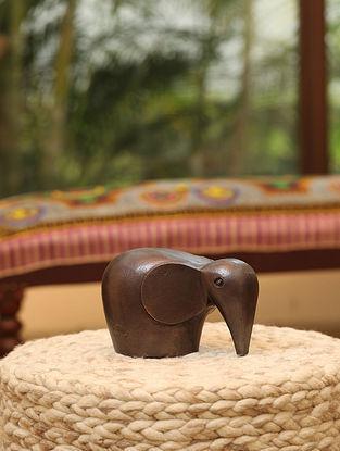 Antique Copper Tone Elephant Figurine (L- 7.5in ,W-4.72in ,H- 5.31in)