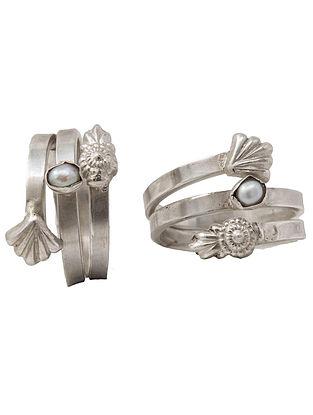 Tribal Silver Toe Rings