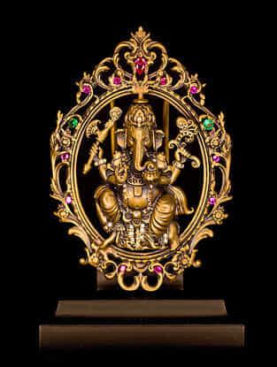 Ganesha Brass Car Decor (L-2.76in ,W- 1.97in)