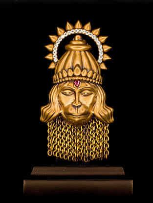 Hanuman Brass Car Decor (L-2.17in ,W- 1.57in)