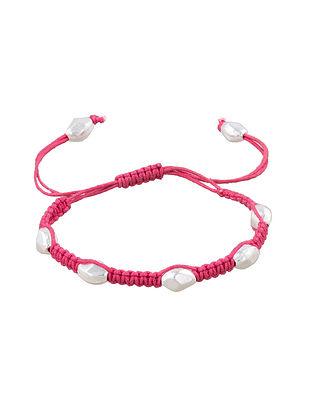 Pink Sterling Silver Adjustable Bracelet
