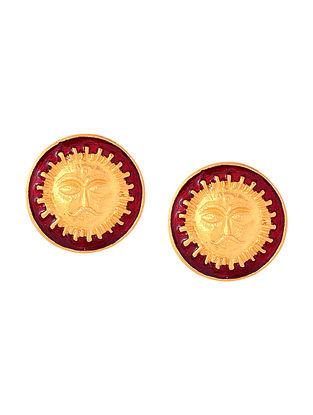 Red Surya Cufflinks