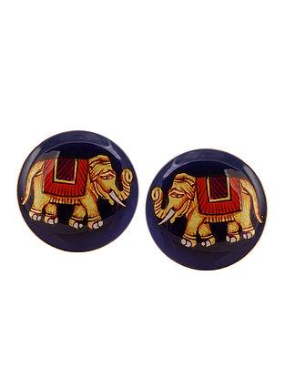 Blue Majestic Elephant Cufflinks