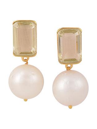 Lemon Quartz Barre Earrings