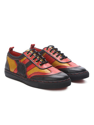 Multicolored Handcrafted Genuine Leather Shoes