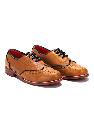 Tan Handcrafted Genuine Leather Shoes