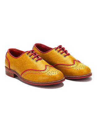 Mustard Handcrafted Genuine Leather Shoes