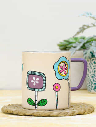 Peach Steel Burgeon Foreshore Coffee Mug (Dia-3in ,H- 3.5in)