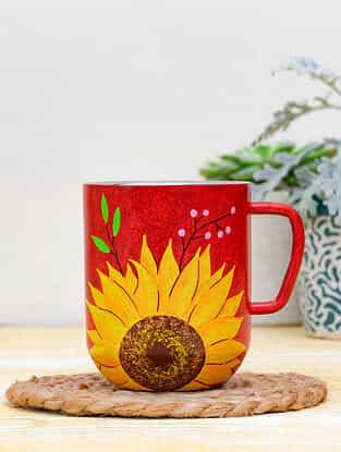 Red Steel Prolific Mirasol Coffee Mug (Dia-3in ,H- 3.5in)