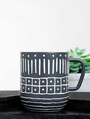 Grey Steel Tribular Caliginous Coffee Mug (Dia-3in ,H- 3.5in)