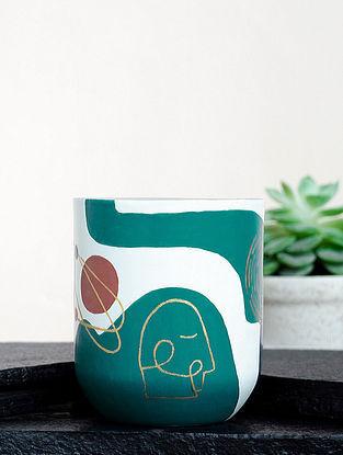 Multicolour Steel Pneuma Meander Coffee Mug (Dia-3in ,H- 3.5in)
