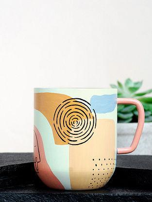 Multicolour Steel Stellular Oeuvre Coffee Mug (Dia-3in ,H- 3.5in)