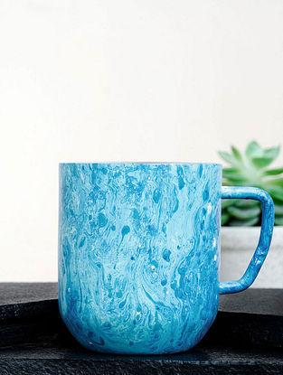 Blue Steel Oceanic Marbly Coffee Mug (Dia-3in ,H- 3.5in)