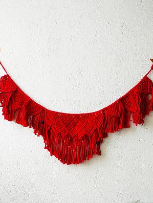 Red Macrame Toran (L-48in ,W-13in)
