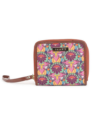 Multicolored Handcrafted Printed Canvas Wallet