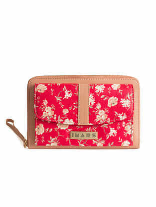 Pink Handcrafted Printed Faux Leather Sling Bag