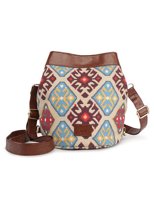 Multicolored Handcrafted Printed Canvas Sling Bag