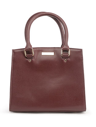 Maroon Red Handcrafted Faux Leather Shoulder Bag