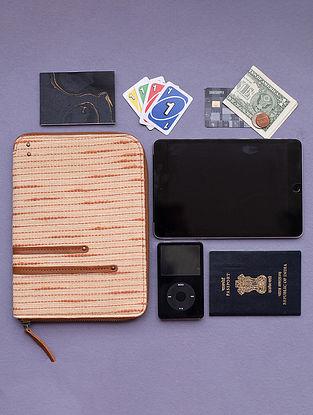 Orange Handcrafted Khadi Leather Wallet