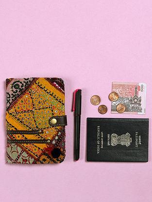 Multicolored Handcrafted Vintage Banjara Leather Passport Case