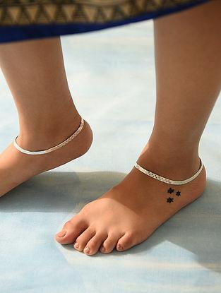 Tribal Silver Anklet (Set of 2)