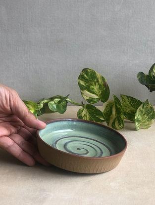 Sea Green Handcrafted Stoneware Saagar Dessert Plate (Dia-5in,H-0.8in)