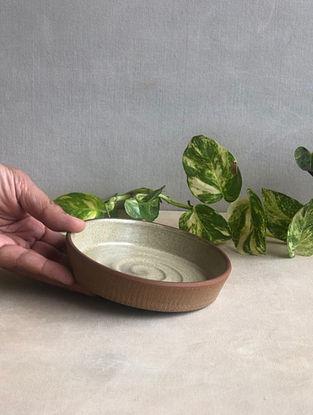 Speckled Beige Handcrafted Stoneware Prthvi Dessert Plates (Dia-5in,H-0.8in)