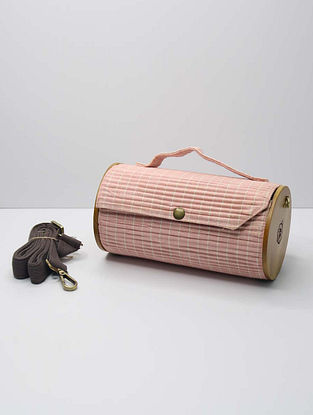 Baby Pink Handcrafted Upcycled Cotton Clutch