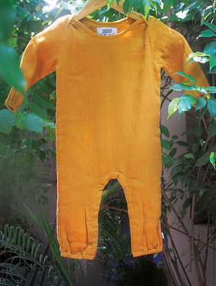 Ochre Yellow Vegetable Dyed Cotton Baba Suit