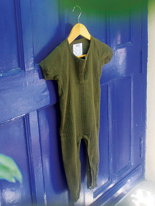 Sage Green Vegetable Dyed Cotton Baba Suit