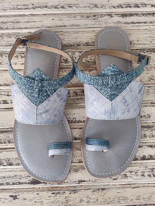 Denim Blue Handcrafted Leather Sandals