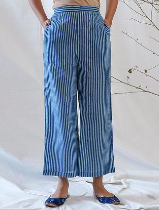 Blue Mul Cotton Pants