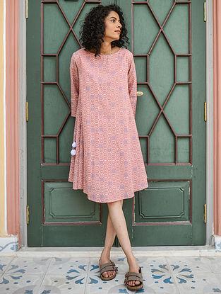 Pink Hand Block Printed Cotton Dress