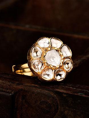 Gold Polki Adjustable Ring