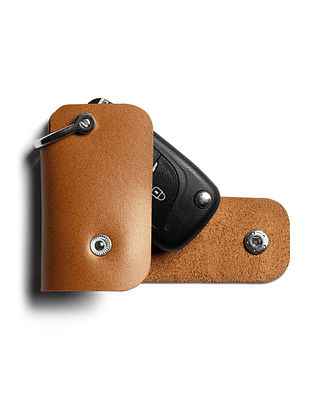 Tan Handcrafted Leather Remote Cover