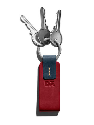 Red Handcrafted Leather Keyring